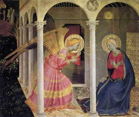 Angelico - Annunciazione (1433-34) - Cortona, Museo Diocesano.