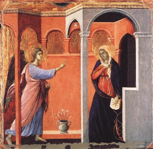 Duccio di Buoninsegna - Annunciazione - (1308-11) - Londra, National Gallery