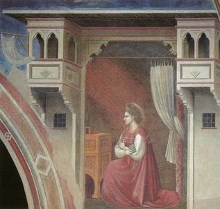 Giotto - Annunciazione (part.) - (1303-05) - Padova, Cappella degli Scrovegni