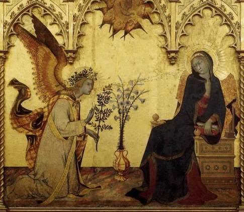 Simone Martini - Annunciacione (part.) - (1333) - Firenze, Galleria degli Uffizi (part.)