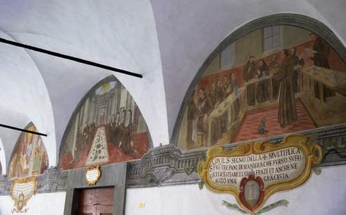 """Al centro e a destra: Lunette XII e XIII, i due """"pasti mistici"""""""