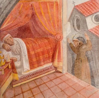 Domenico Manfredi: Lunetta V (dettaglio), Il sogno di papa Innocenzo III