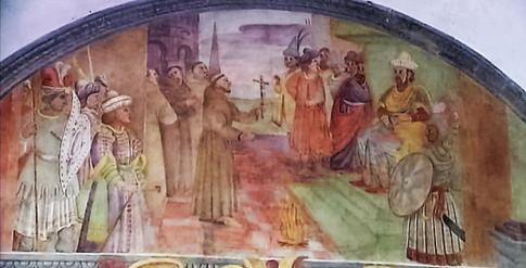 Domenico Manfredi: Lunetta VII, Francesco davanti al sultano