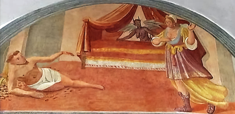 Domenico Manfredi: Lunetta VIII, Francesco viene tentato da una donna moresca
