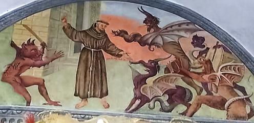 Lunetta IX: Francesco è assalito dai demoni