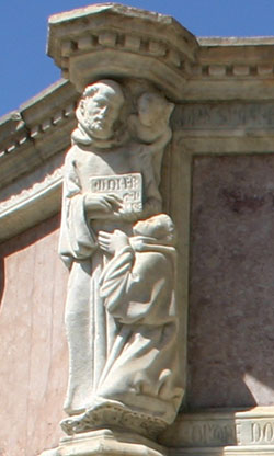 Nicola e Giovanni Pisano, San Silvestro riceve la regola da San Benedetto, Fontana Maggiore, Perugia, 1277-1278