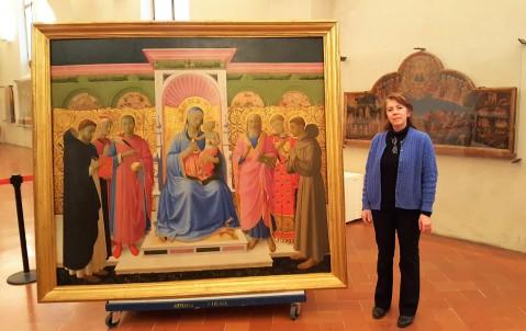 Silvia Verdianelli, che ha eseguito il restauro