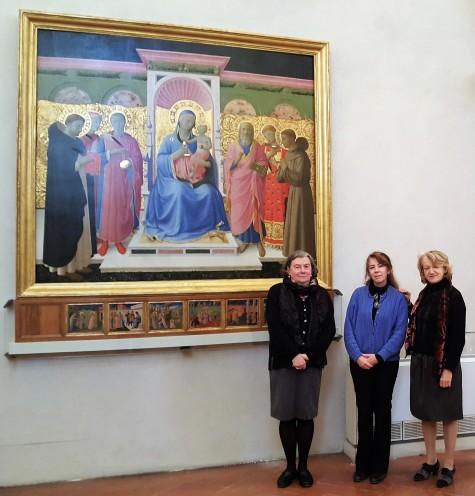Da sinistra: Silvia Carrara (segreteria del museo), Silvia Verdianelli (restauro), Marilena Tamassia (direzione del museo)