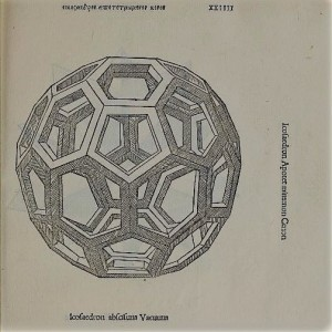 Icosaedro troncato vuoto (da Luca Pacioli e Leonardo da Vinci, De Divina Proportione)