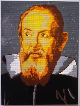 Ai Weiwei: Ritratto di Galileo Galilei in LEGO, 2016 (da Giusto Sustermans, Ritratto di Galileo, Galleria degli Uffizi, Firenze)