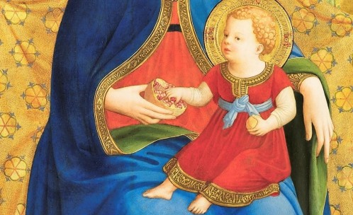 beato-angelico-madonna-alba-museo-del-prado-madrid-dettaglio